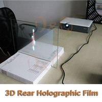 Wholesale Rear Adhesive Projection - Wholesale-3D Holographic Projection Film Adhesive Rear Projection Screen A4 Size 1Piece