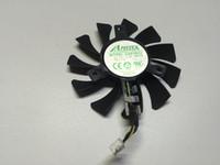 enfriamiento de 4 hilos al por mayor-Nuevo ventilador de tarjeta gráfica Original EVEA Onda APISTEK GA81S2U DC12V 0.38A 4Wire diameter 75mm Pitch 40MM