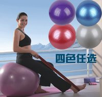 Wholesale Fitness Ball Pump - Newest Arrivals 55cm Exercise Ball without Air Pump Body Slimming For Yoga Fitness Pilates Home Gym 4colors