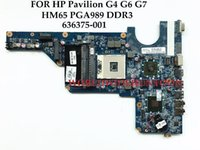 Wholesale Motherboard For Hp G6 - High quality laptop motherboard for HP Pavilion G4 G6 G7 636375-001 DA0R13MB6E1 HM65 PGA989 DDR3 HD6470 1GB 100% Fully Tested