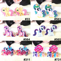 4 x Unicorn Baby Girl  Flatback Planar Resin Embellishment Craft Bow Rainbow