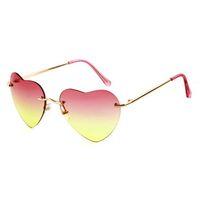 Wholesale Heart Shaped Lolita Sunglasses - ZAMA Multi Color Retro Heart Shape Sunglasses Summer Lolita Eyeglasses Fashion Stylish Eyewear for party Beach shopping 0041