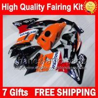 Wholesale Honda Cbr125r Fairings - 7gifts+Bodywork For HONDA CBR125R 02-06 Repsol blue CBR125 R 02 03 04 05 06 10CL40 CBR 125R Orange red 2002 2003 2004 2005 2006 Fairing Kit