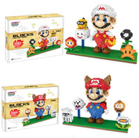 2200 + PCS diamond Size Anime Figure Mario y su hermano familia Building Blocks Toys DIY Bricks con pantalla de visualización Modelos de dibujos animados