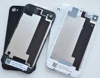 ingrosso vetro posteriore di iphone 4 di apple-100PCS / Lotto Porta batteria di alta qualità per iPhone 4S Vetro posteriore Porta Pannello posteriore Piastra 4G Sostituzione alloggiamento Nero / Bianco DHL
