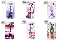 Wholesale Vintage Eiffel Tower - Vintage Retro Printed Soft TPU with Eiffel Tower London Elizabeth Big Ben For iPhone 5 5S 6 4.7 Plus 5.5 inch Samsung Galaxy S6 Edge Case