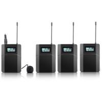 transmisores usados al por mayor-Envío gratis 100 m Sistema de guía de viaje inalámbrico utilizado para guiar a la iglesia enseñando 3 receptores 1 transmisor con micrófono