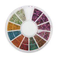 Wholesale Manicure Beads - High Quality Mix Colors 3D Nail Art Steel Ball Mini Beads Caviar Nail Art set Tip Rhinestone Decoration Manicure