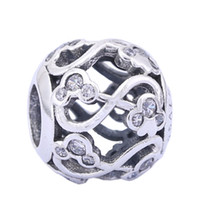 Wholesale pandora mickey for sale - Group buy Sterling Silver Charms Ale Hollow Out Rhinestone Mickey Charms for Pandora Bracelets DIY European Beads Accessories Silver Jewelry