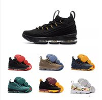 Wholesale James Shoes White Black - 2017 AAA+ Quality Lebron 15 Basketball Shoes Lebron shoe Arrival LBJ Sneakers 15s High Cut Mens Casual Shoes James 15 size US 7-12