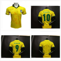 fb449c6dcfe Soccer Short Microfiber 1998 Brazil home soccer jerseys 2002 Brasil retro  classic shirts Carlos Romario Ronaldo