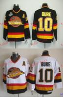 Wholesale Mens Hockey Jerseys - Vancouver #10 Pavel Bure Cheap Hockey Jerseys ICE Winter mens women kids Stitched Jersey Free shipping