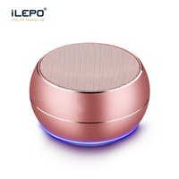 Wholesale x mini speakers - R9 Metal Mini Bluetooth Speakers LED Light Subwoofer Wireless Speaker Computer Support TF FM Mic For iPhone X 8 7S Samsung S8 Edge sound bar
