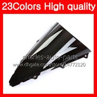23Colors Motorcycle Windscreen para YAMAHA YZF 1000 YZF R1 02 03 YZF-1000 YZF-R1 YZF1000 YZFR1 2002 2003 Chrome Black Clear Smoke Windshield