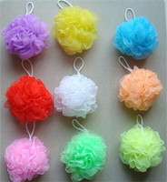 Wholesale Body Tub - Wholesale-Multicolour bath ball bathsite bath tubs Cool ball bath towel scrubber Body cleaning Mesh Shower wash Sponge product 1pc U50