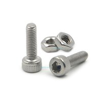 Atacado - 50pcs M3x10mm Aço inoxidável Allen Hex Socket Head Cap Fastener Thread Parafusos Parafusos + 50pcs M3 Nuts