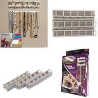 Wholesale Display Tray Necklace - Adhesive Jewelry earring necklace hanger holder Organizer packaging Display jewelry rack sticky hooks Wall Mount stand tray para
