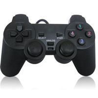 Wholesale Double Joystick Game Joypad - PC Wired USB Joypad Game pad Gamepad Joystick Controller Control With Double Shock Support XP   Win7 for PC Laptop etc
