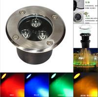 Wholesale Led Underground Lights Price - Factory Price 85-265V 3W RGB LED Underground light Buried LED Lamp IP65 swimming pool led lights pool led light water