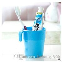 Wholesale travel toothbrush cup - Plastic Mug Multi Colour For Household Bathroom Toothbrush Cup Men And Women Gargle Cup Portable Travel Goods 0 55rr C