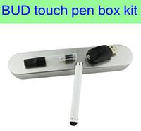 Wholesale Electronic Cartridge - BUD touch pen box kit vape vaporizer pen cartridges electronic cigarette oil vaporizer wax vape CE3 atomizer e cigarette cartridges