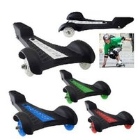 Wholesale drifting board scooter for sale - Group buy New Arrival Fashion Scooter Drift Skateboard Tricycle Vigor Board Girl Boy Cruiser Three Wheel Board good quality