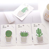 Wholesale adhesive memo pad - Cute Cactus Memo Pad Sticky Note Sticker Memo Book Note Paper N Stickers Stationery Office Accessories School Supplies