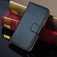 Wholesale S3 Case Real Leather - For Galaxy S3 I9300 Luxury Genuine Real Flip Wallet Leather Case With Credit Card Stand Pouch Cover For Samsung 9300 SIII