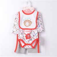 Wholesale Cover Baby Bib - Baseball Baby Boys Clothes Sets 2015 New Arrival Brand Payifang Bibs Sock Bodysuit Trouser Suit Cheapest
