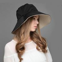 Wholesale Silver Wide Brim Hat - Wholesale-Wholesale and Retail fashion summer cap beach hats staw hat Wide Large Brim Unique cotton hats