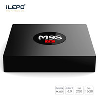 Wholesale Iptv Set Top - M9S Android TV Box 2GB 16GB Rockchip RK3229 Quad Core 4K WIFI Bluetooth HDMI Media Player TV OTT Set Top IPTV Box