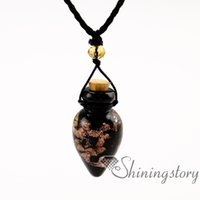 Wholesale Wholesale Small Glass Bottles Jewelry - essential oil necklace wholesale perfume small bottles oil diffusing necklace aromatherapy diffuser jewelry wholesale diffuser necklace diff
