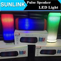 Wholesale Mini Amplifier For Mp3 - Mini X2 X2U Pulse Bluetooth Portable Speakers Colorful LED Flash Light Stereo HD Subwoofer Amplifier Audio Support FM TF Card USB Handsfree