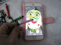 Wholesale dust stopper iphone resale online - Bling Stylus Pen Touch ear cap Plug dust earphone Stopper cover for Iphone S S S Galaxy S6 S7 Edge For Ipad With Retail Package