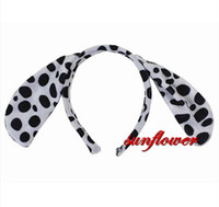 Wholesale Dog Ears Costume - Adult Children Cute Dalmatians Dog Ears Headband Head Band Party Costume Cosplay Fun Party Decoration Festive