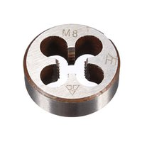 Wholesale Rubber Mallet Set - Metric Thread Die Pitch Left Hand M8 Multiple Property kit Alloy Steel Die Wrench Set for metalworking Metal Working DIY tool order<$18no tr