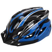 Wholesale bike white light online - New unisex EPS ultra light bike helmet riding helmet one piece craft helmet protective gear cycling helmets for sale