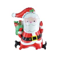 Wholesale Christmas Inflatable Santa Claus - 10 pieces New Santa Claus Foil Balloons Globos Merry Christmas Decorations Inflatable Xmas Air Balloons Event Party Supplies