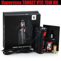 Wholesale vaporesso target vtc 75w - Top Vaporesso TARGET VTC 75W Mod Starter Kit temperature control Vape pen Ceramic c CELL Coil RDA 18650 Battery e cigarettes Vapor Mods DHL