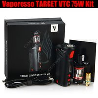 ingrosso vaporesso obiettivo 75w kit vtc mod-Top Vaporesso TARGET VTC 75W Mod Kit starter kit controllo temperatura Vape penna Ceramica c bobina CELLA RDA 18650 Batteria e sigarette Mod Vapor DHL