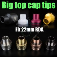 Wholesale hose mods for sale - Top cap Drip tips big enuff chuff POM aluminum stainless Dripper Mutation x Stillare Atty troll doge dark hose Mods vapor RDTA dripping