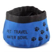 Wholesale Pet Food Dishes - Pet Dog Cat Folding Travel Water Bowls Food Dish New