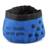 Pet Dog Cat Folding Viagem Bowls Food Dish Nova