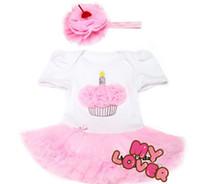 Wholesale Wholesale Cupcake Tutu Dress - 10%OFF 2015 NEW ARRIVAL!Cupcake Infant Princess Dress Chiffon Headbands Set,1pcs dress+1pcs headband,Vestidos Para Bebe,BRAND Clothes .2pcs