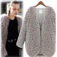 Wholesale Long Fur Coat Model - Wholesale-Explosion Models 2015 New Winter Fashion Plush Copy Fur Jacket Coat Thicker Warm Long Sleeve Cardigan Jacket Coat Female