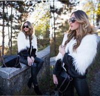 Wholesale Womens Long Sheepskin Coat - 2018 Winter Fashion Slim Short Faux Fur Coat For Womens Long Sleeve Warm Short Imitation European Fur Jackets Plus Size Fur Vest FS3155