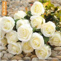 Wholesale christmas decoration wholesale suppliers - Romantic 2015 Artificial Rose Silk Craft Flowers Festive Party Supplier Real Touch Flowers For Wedding Christmas Room Decoration Many Colors