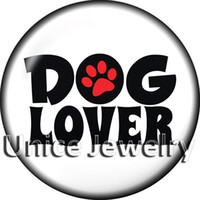 encaixes do snap do cão venda por atacado-AD1303078 12/18 / 20mm Snap Em Encantos para Pulseira Colar Hot Sale DIY Achados Botões De Pressão De Vidro Projeto Do Cão noosa, fazendo jóias