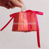 Wholesale Trapezoidal Box - 1000pcs lot Wedding Candy Boxes Gift Boxes Trapezoidal Favors Boxes