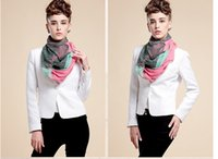 Wholesale Womens Long Scarves Cotton - NEW fashion Stripe gradients voile wave pattern Chevron Infinity Scarves Womens shawl super long scarf F125